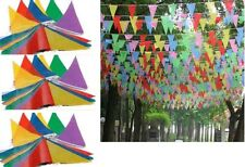 1000M LONG 2000FLAGS MULTICOLOURED BUNTING TRIANGLE BANNER BIRTHDAY PARTY