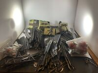 Lot of 100+ Vintage Atlas HO Scale Brass Track Straight Curve Switches Terminal