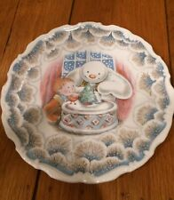 1985 Royal Doulton Snowman Gift Collection Snowman Christmas Cake Plate 8 3/8""