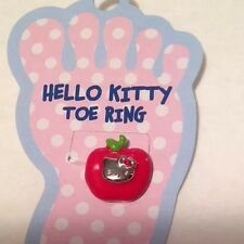 Sanrio Hello Kitty Enamel Red Apple Stretch Toe Ring w Crystal New