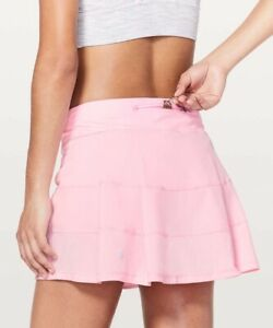 """NWOT Lululemon Pace Rival Skirt (Tall) *4-way Stretch 15"""" Miami Pink 
