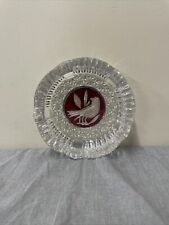 """HOFBAUER Red Bird Byrdes Collection German Crystal ASHTRAY 5.75"""" FS Bnfts Chrty"""
