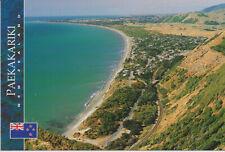 Ansichtskarte: Paekakariki Hill und Beach, Eisenbahnlinie, Neuseeland