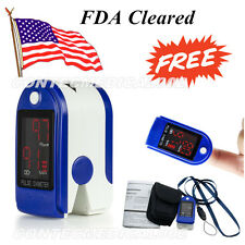 FDA Contec LED Finger Tip Pulse Oximeter Spo2 Monitor Blood Oyxgen CMS50DL+CASE