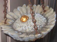 "Vintage 6"" Hanging Bird Feeder Dish with Golden Beetle Awesome Garden Decor Rare"