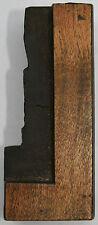 WOODEN LETTER for VINTAGE LETTERPRESS 68 mm high 'L'