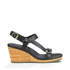 3b64706c6bbad Teva Womens Arrabelle Universal Leather Sandal Black 8.5 M US