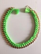 aurelie bidermann Green Thread And Gold Chain Choker Small damage Paperclip