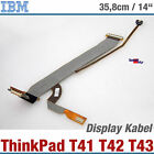 IBM THINKPAD T41 T43 T42 NOTEBOOK DISPLAY KABEL CABLE 91P6804 91P6786 92P6768