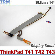 IBM ThinkPad T41 T43 T42 pc portable afficher Câble 91P6804 91P6786 92p6768