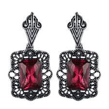 1 Pair Fashion Women Boho Square Crystal Drop Dangle Vintage Earrings Jewelry JT
