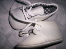 Super Baby-Schuhe, Stoffschuhe, creme mit Schnürer, neu  Gr.20/21