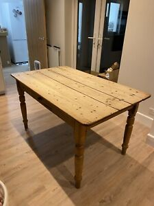 Well loved, Shabby Chic, Antique pine farmhouse dining table seats 6