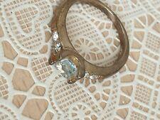 Fashion Jewellery Ring gold Tone with fake diamonds