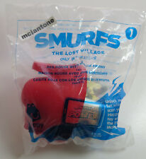 MIP McDonald's 2017 Smurfs Lost Village #1 RED HOUSE Papa SMURF Smurfblossom Toy