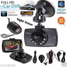 1080P 2.7'Hd Lcd Dual Lens Car Dash Camera Video Dvr Cam Recorder Night Vision