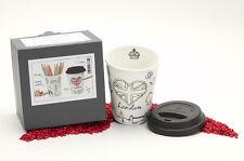 Könitz Porzellan Coffee to Go Mug Selfmade City Mug - London 380ml - zum Bemalen