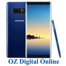 "NEW Samsung Galaxy Note 8 Dual Sim N950 128GB Blue 4G 6.3"" Unlocked Phone 1YrWty"