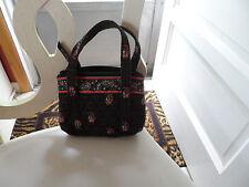 Vera Bradley small handbag in retired Chocolate pattern NWOT