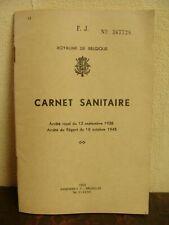 Carnet sanitaire 1953 - Vierge - Comme NEUF - Belgique - 39 pages