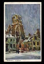 Belgique WW1 PPC dans l'aide de la peinture les soldats invalides DIXMUNDE par baertson utilisé