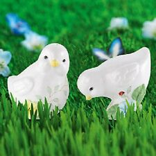 Lenox Butterfly Meadow Baby Chicks Salt & Pepper Set Easter *Nib*