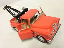 "1955 Chevy 3100 Stepside Tow Truck 5.5"" DieCast 1:32 Pull Back Kinsmart Toy OR"