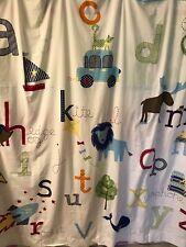 Pottery Barn Kids Fabric Shower Curtain ~ ABC'S