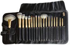 Mieoko 18 Piece Bamboo Makeup Brush Set With Black Case
