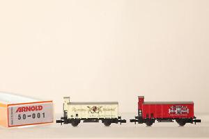 Arnold N Gauge 50-001 Set Covered Wagons M Bh, Remstal Kellerei (178140 35)