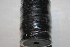 1mm *Genuine Leather * Cords - 100 Meter Spool - India. * Black * Grl Series