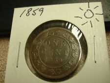 1859 - Canada - one cent coin - Canadian penny