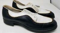 Vintage Lazy Bones Spectator Style  Du-Flex Tru Stance Golf Shoes Size 10