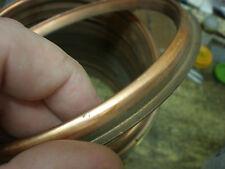 "COPPER Barometer BEZEL 7 1/8"" O/D 181mm Spun Aneriod parts spares clock glass"