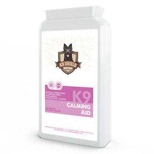 K9 Calming Aid for Dogs - 120 Tablets - Anxiety, Hyperactivity, Stress Relief
