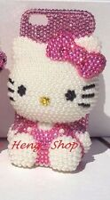 3D hello kitty cheetah Pink iPhone crystal case bling diamond cover Leopard USA