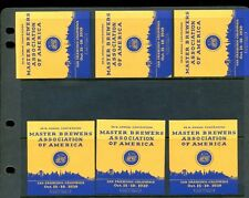 6 Vintage 1939 Master Brewers Assn Of America Expo Poster Stamps San Frisco L974