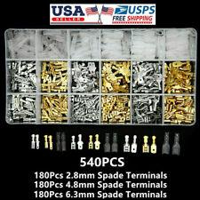 540X Assortment Male Female Spade Crimp Terminals Electrical Wire Connectors Kit