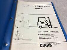 Clark Equipment C25b Parts Book Manual Forklift