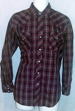 ata Authentic Western Wear Vintage Pearl Snap Western Shirt Sz 16 (32/33)