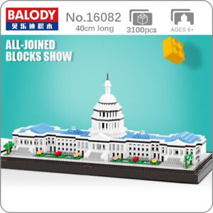 Balody16082 Architecture Capitol Congress DIY Diamond Blocks Building Toys