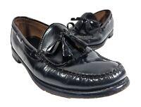 LL Bean Shoes Mens Classic Fringe Tassel Loafers Sz 11 D Black Leather 1207 Rare