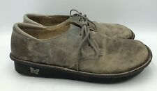 Alegria Tan Leather Lace Up Oxfords Womens Size 41 Bre-603