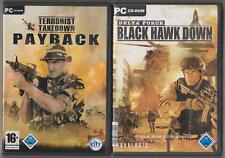 Terrorista TAKEDOWN PAYBACK + DELTA FORCE BLACK HAWK DOWN raccolta giochi pc