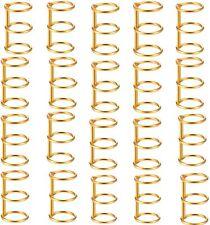 3 Holes Gold Loose Leaf Binder Book Rings On Post 34 Inside Diameter 20 Pack