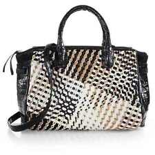 $4800 Nancy Gonzalez Cristina Multicolored Crocodile Woven Satchel Bag Purse