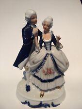 Vintage Colonial Victorian Courting Couple George & Martha Washingtonesque EUC