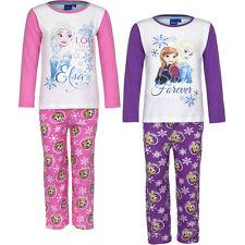 Pyjama Set Schlafanzug Mädchen Eiskönigin Frozen Pink Lila 104 110 116 128 #63