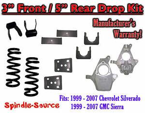 "1999 - 2007 GMC Sierra / Chevrolet Silverado 1500 V8 3"" / 5"" Lowering Drop kit"