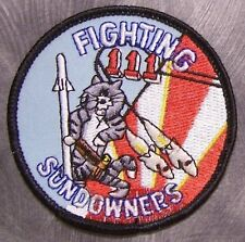 Embroidered Military Patch U S Navy VF-111 NEW Fighting Sun Downers